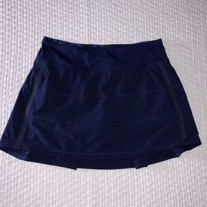 Lululemon Pace Rival Blue Skirt Running Tennis Sz6